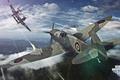 Картинка небо, облака, самолет, aviation, авиа, MMO, Wargaming.net