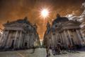 Картинка небо, солнце, люди, улица, площадь, Рим, Италия