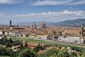 Картинка небо, горы, река, дома, Италия, панорама, собор
