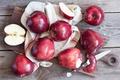 Картинка фрукты, яблоки, дольки яблок