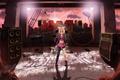 Картинка девушка, микрофон, руины, vocaloid, бантик, Kagamine Rin, вокалоид