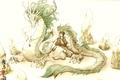 Картинка перо, дракон, Девушка, валуны