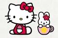 Картинка арт, бантик, hello kitty, кошечка, девочкам