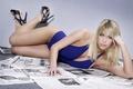 Картинка купальник, девушка, Gemma Atkinson, блондинка