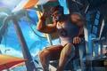 Картинка пляж, лето, hon, kane, спасатель, Heroes of Newerth, Lifeguard Kane