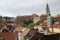 Картинка небо, башня, дома, крыши, Чехия, дворец, Чески-Крумлов