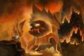 Картинка fire, magic, Warrior, creature