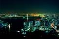 Картинка ночь, мост, город, огни