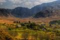 Картинка поля, Ireland, hdr, Ирландия, горы, Donegal, долина