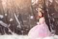 Картинка зима, платье, девочка, Waiting for Spring