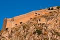 Картинка крепость, стена, Греция, небо, скала