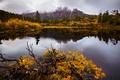 Картинка осень, вода, деревья, горы, природа, гора, озеро.