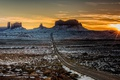 Картинка пейзаж, горы, утро, Utah, Monument Valley