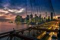 Картинка город, Нью-Йорк, Бруклинский мост, Манхэттен
