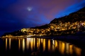 Картинка ночь, дома, Францыя, Cap-d ail, гора., Кап-д ай