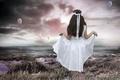 Картинка girl, sea, romantic, photomanipulation, child