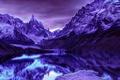Картинка природа, снег, Горы, небо, озеро