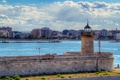 Картинка город, фото, маяк, Италия, Apulia Bari