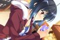Картинка девушка, улыбка, магазин, art, предмет, kaneshiro ai, baka moe heart ni ai wo komete!
