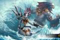 Картинка море, волны, вода, Heroes of Newerth, New Riptide Model, hon