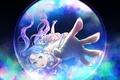 Картинка девушка, аниме, арт, браслет, пузырь, marichi