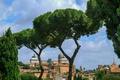 Картинка небо, деревья, пейзаж, Рим, Италия, Витториано