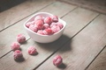 Картинка ягоды, малина, тарелка, миска