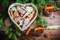 Картинка чай, елка, печенье, Новый год, корица, Christmas, выпечка