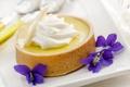 Картинка цветы, пирог, крем, выпечка