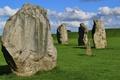 Картинка поле, небо, Standing, каменные глыбы, Stones-Stone