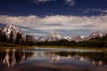 Картинка отражение, горы, сосны, Гранд Тетон Национальный парк, Соединенные Штаты, озеро, зеркало