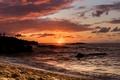 Картинка Hawaii, Sunset, Oahu, Waimea Bay