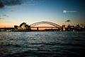 Картинка закат, оперный театр, Сидней, мост, Австралия, Motograffi Photography