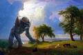 Картинка пейзаж, гигант, art, Kaiju