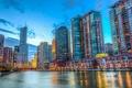 Картинка река, здания, Чикаго, Иллинойс, Chicago, Illinois, набережная
