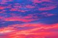 Картинка облака, краски, небо, зарево