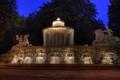 Картинка свет, пейзаж, ночь, Германия, Мюнхен, фонтан
