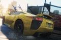 Картинка car, 2012, yellow, Most Wanted, Lexus LFA, Need for speed