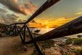 Картинка море, солнце, пейзаж, закат, фото, рассвет, побережье