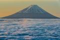 Картинка небо, облака, гора, вулкан, Япония, Фудзи
