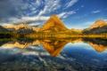 Картинка горы, озеро, монтана, mountains, lake, glacier national park, глейшер