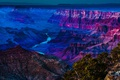 Картинка закат, каньон, река, небо, ущелье