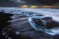 Картинка выдержка, лёд, пляж, льдины, океан, море, потоки