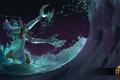 Картинка море, вода, ночь, волна, Heroes of Newerth, Riptide, Pisces Riptide