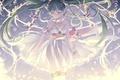 Картинка девушка, цветы, улыбка, аниме, арт, vocaloid, hatsune miku