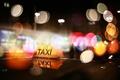 Картинка ночь, огни, такси