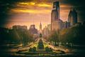 Картинка вид, утро, Philadelphia