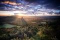 Картинка dorset, blue hour, Corfe Castle, Sunrise