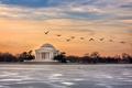Картинка Sunrise, Washington, Jefferson Memorial
