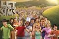 Картинка The Sims 3, Симс 3, трава, солнце, персонажи, игра